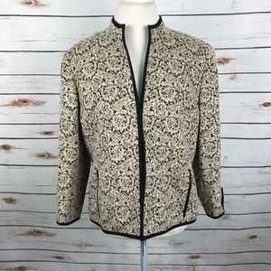 Doncaster Collection Texture Fabric Blazer Jacket